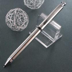 """Stylo LAMY """"st Tri Pen"""" Multi-Fonctions Acier (Bille noire,mine 0,5 et souligneur)"""