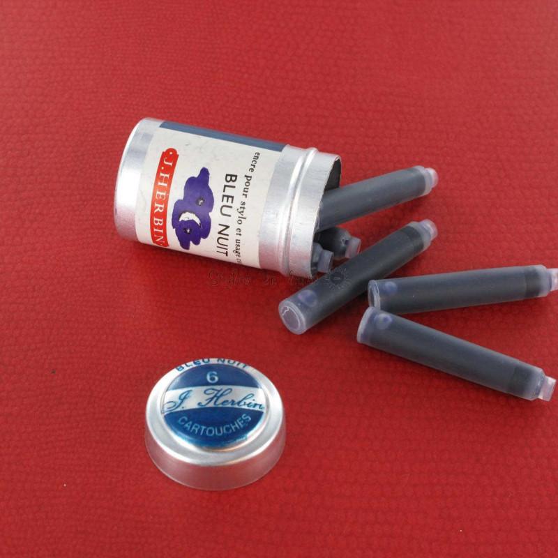 Cartouches d'encre J. Herbin® Bleu nuit Boite de 6