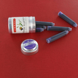 Cartouches d'encre J. Herbin® Violette Pensée Boite de 6