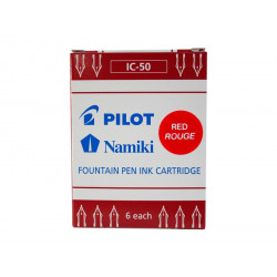 Cartouches d'encre Pilot® Namiki Rouges