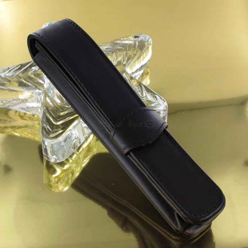 etui stylo cuir diplomat noir sur stylos en ligne. Black Bedroom Furniture Sets. Home Design Ideas