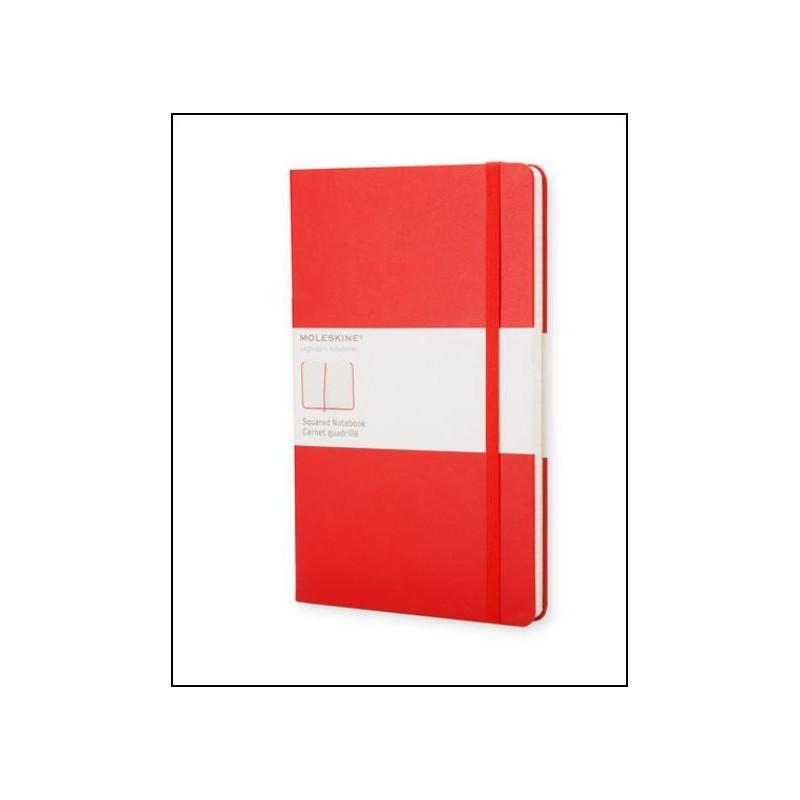 Carnet Moleskine® Rouge Pocket Quadrillé