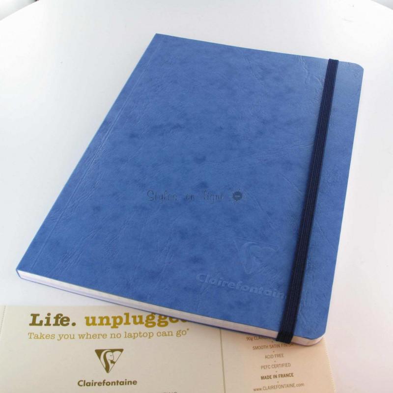 Carnet Demi Format Clairefontaine® Age Bag Bleu Océan