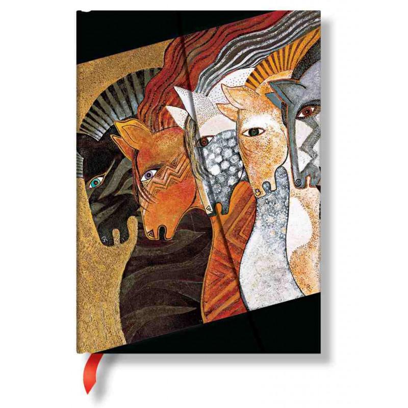 Carnet Paperblanks® Laurel Burch Juments du Maroc Midi Ligné