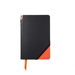 Moyen Carnet Cross® JotZone Noir & Orange Ligné