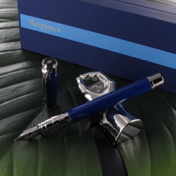 Stylo Plume (M) Waterman® Perspective Bleu Obsession CT