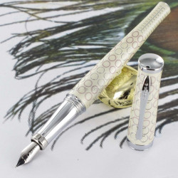 Stylo Plume Cross® Sauvage Forever Pearl (plume fine)