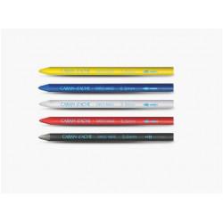 Lot 6 Mines 5 couleurs (bleu/noir/rouge/jaune/blanc) 5,5 mm Caran d'Ache®