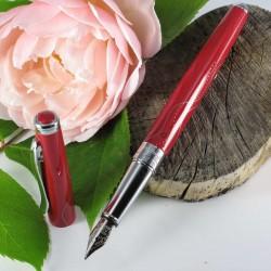 """Stylo Plume Oberthur® """"Astrée"""" Laqué Rouge Brillant"""