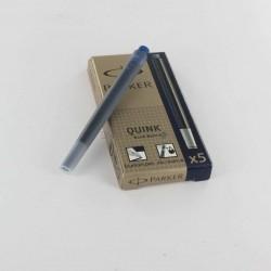 Lot de 5 Boites de 5 Cartouches Bleues-Noires Longues Parker® Quink
