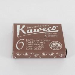 Cartouches KAWECO® Caramel Brown - Boite de 6