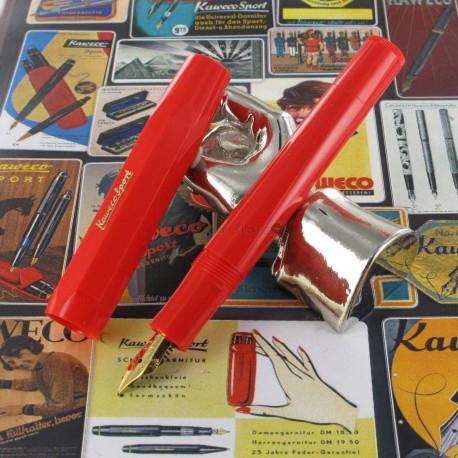 Stylo Plume Kaweco® Classic Sport Rouge doré à l'or 23 carrats