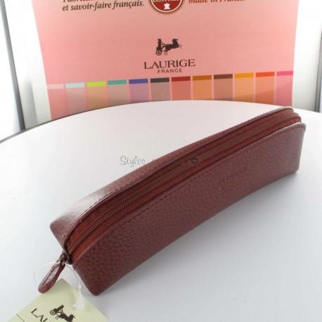 Trousse Cuir Laurige® Bordeaux