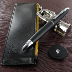 "Coffret stylo Bille et Etui TrackR Cross® ""Calais"" Noir"