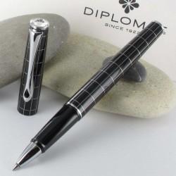 Stylo Roller Diplomat® Optimist Noir Rhomb