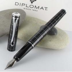 Stylo Plume Diplomat® Optimist Noir Rhomb