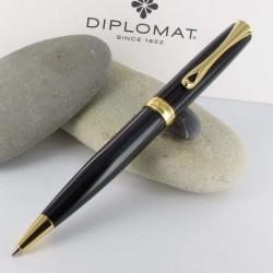 Stylo Bille Diplomat® Excellence A Laqué Noir Doré