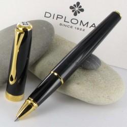 Stylo Roller Diplomat® Excellence A Laqué Noir Doré