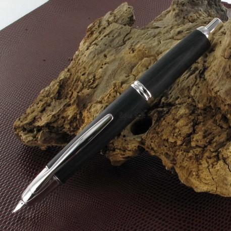 Stylo Plume Pilot® Capless Bois de bouleau Noir Rhodié, plume moyenne