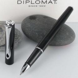 Stylo Roller Diplomat® Traveller Noir Laqué