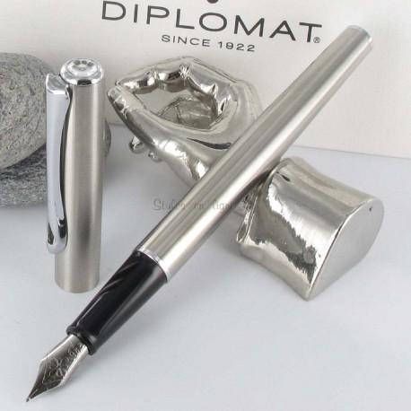 Stylo Plume Diplomat® Traveller Acier