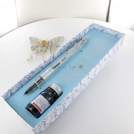 Coffret Stylo Roller et Encre Parfumée Herbin® Bleu Lavande