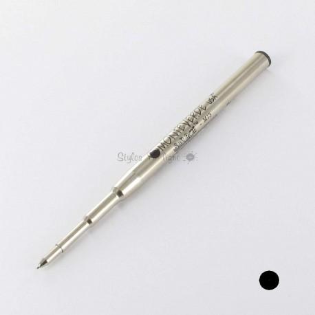 Recharge BILLE NOIRE MOYENNE 0,7 mm (recharge générique/compatible) pour stylos MB.