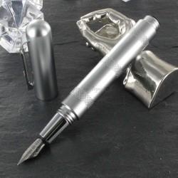 Stylo Plume Giuliano Mazzuoli® Officina Micrometer Chrome