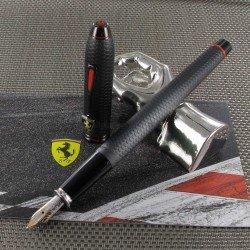 Stylo Plume Moyenne Cross® Ferrari® Townsend Noir Satiné Damier