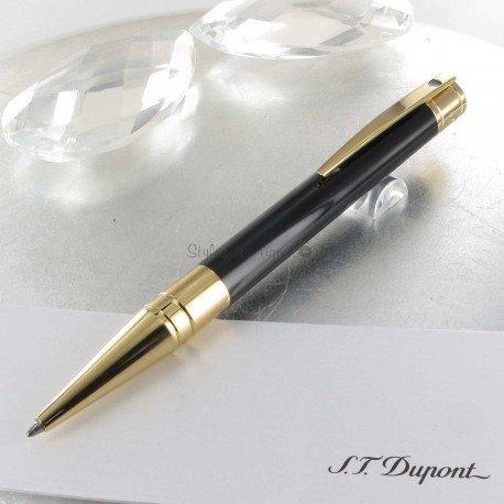 Stylo Bille ST Dupont® D-Initial Noir Doré