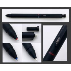 """Stylo LAMY Multi-Fonctions  """"st Tri Pen"""" Noir (Bille bleue,rouge et mine 0,5)"""