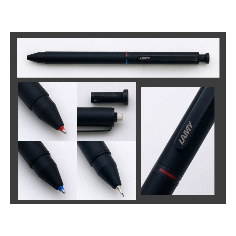 "Stylo Multi-Fonctions LAMY® ""2+1"" (Bille bleue,rouge et mine 0,5)"