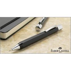"""Stylo Portemine Faber-Castell® 0.7mm """"Ondoro"""" en Résine Noire"""