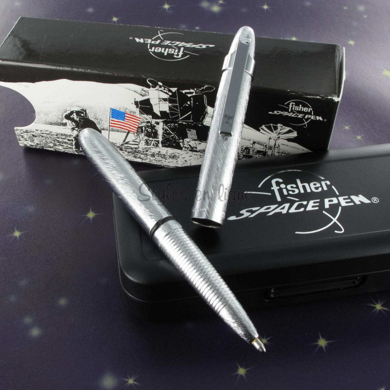 Stylo Bille Pocket Fisher Space Pen® Clip Chromé Brossé