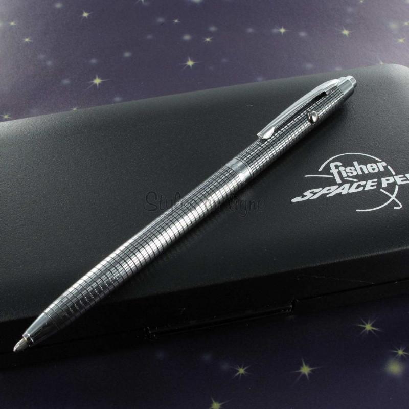 Stylo Bille Fisher Space Pen® Space 1 - Chromé Quadrillé  -