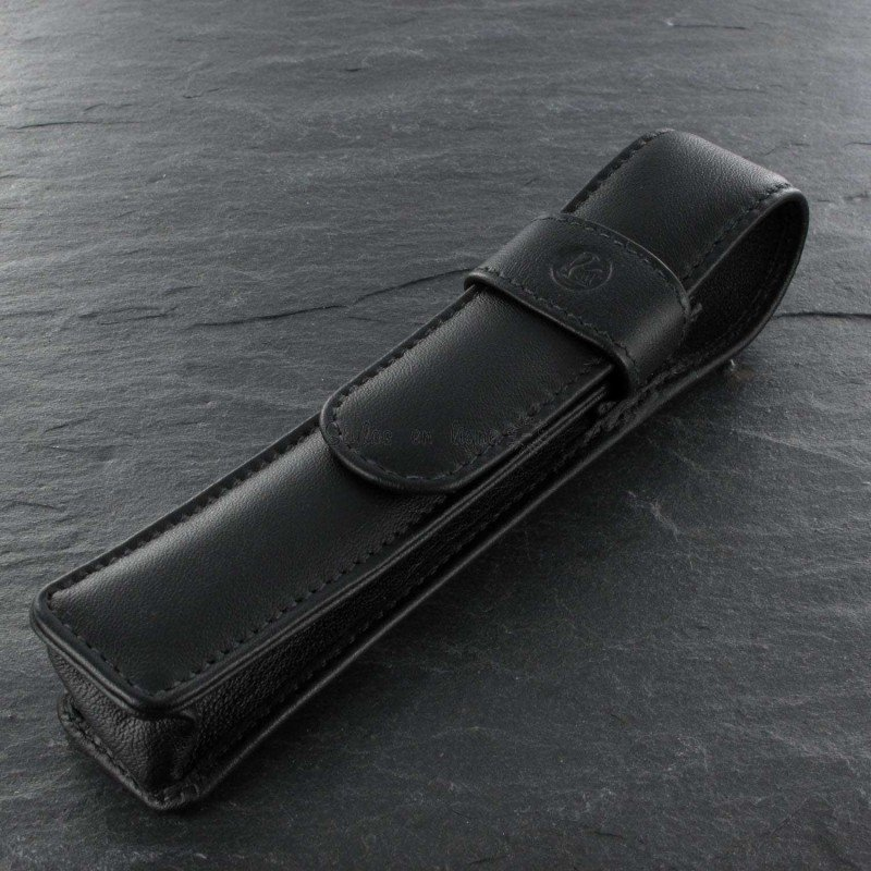 etui cuir noir pelikan 1 stylo sur stylos en ligne. Black Bedroom Furniture Sets. Home Design Ideas