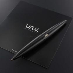 """Stylo Bille Usus® """"IO"""" en Aluminium Massif Noir"""