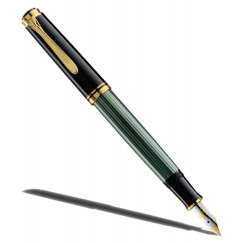 stylo plume p likan noir vert souveran 400 plume. Black Bedroom Furniture Sets. Home Design Ideas