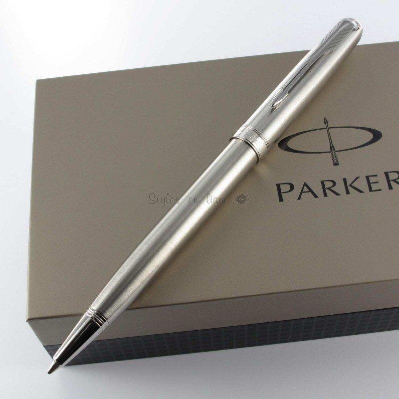 stylo bille parker acier