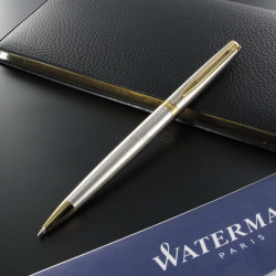 Stylo Bille Waterman® Hémisphère Acier Satiné GT
