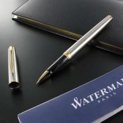 Stylo Roller Waterman® Hémisphère Acier Satiné GT