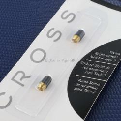 Pack de 2 Embouts stylets de remplacement Cross pour stylo Tech2