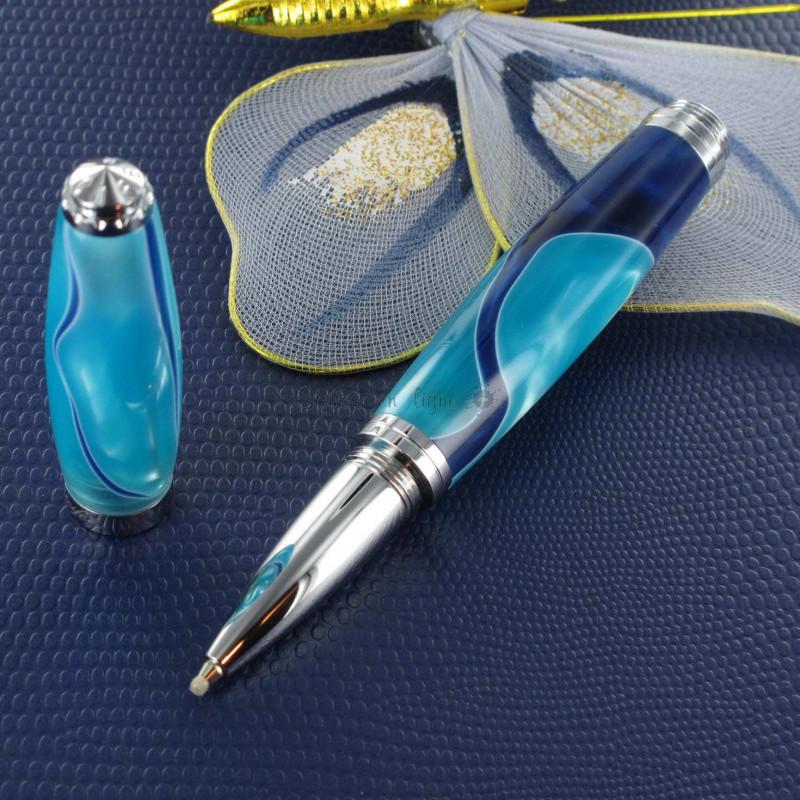 Stylo Roller Recife® Pearl Soyouz Bleu Turquoise Nacré