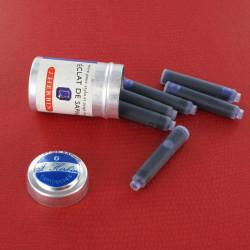 Cartouches Eclat de Saphir boite de 6 Herbin®