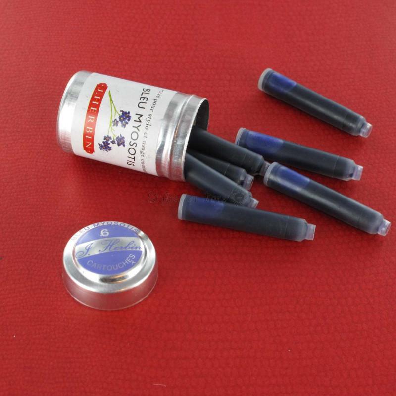 Cartouches d'encre J. Herbin® Bleu Myosotis Boite de 6
