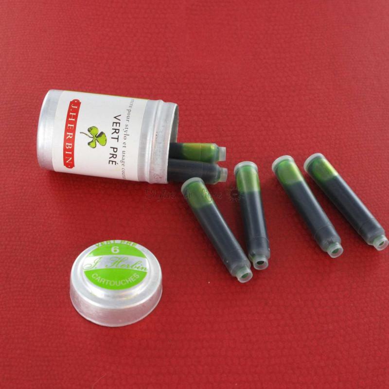 Cartouches d'encre J. Herbin® Vert Pré Boite de 6