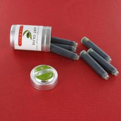 Cartouches d'encre J. Herbin® Vert Olive Boite de 6