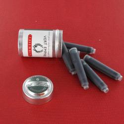 Cartouches Vert Empire boite de 6 Herbin®