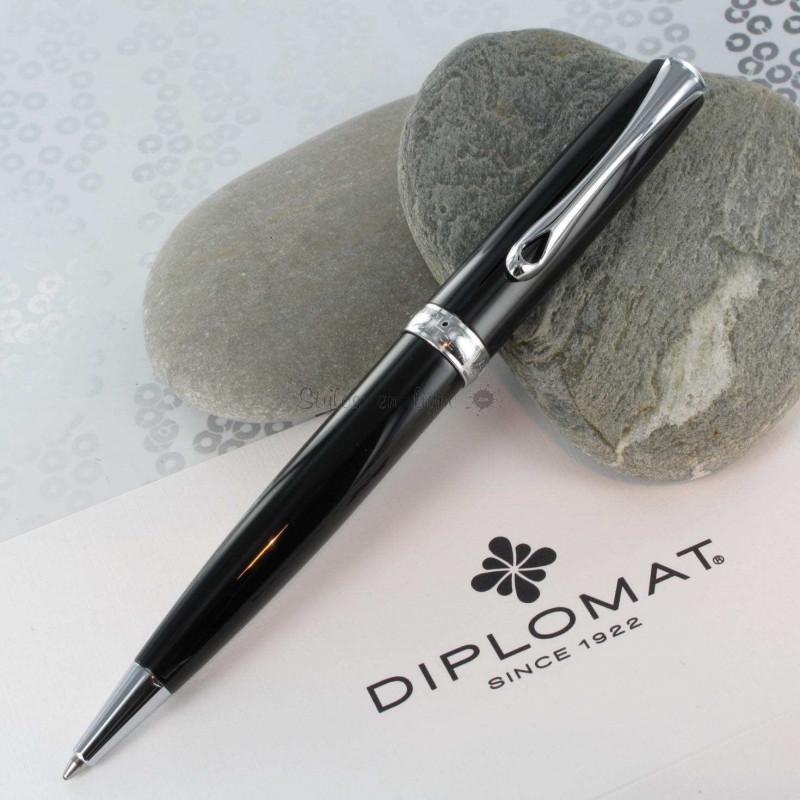 Stylo Bille Diplomat® Excellence Laqué Noir et Chrome