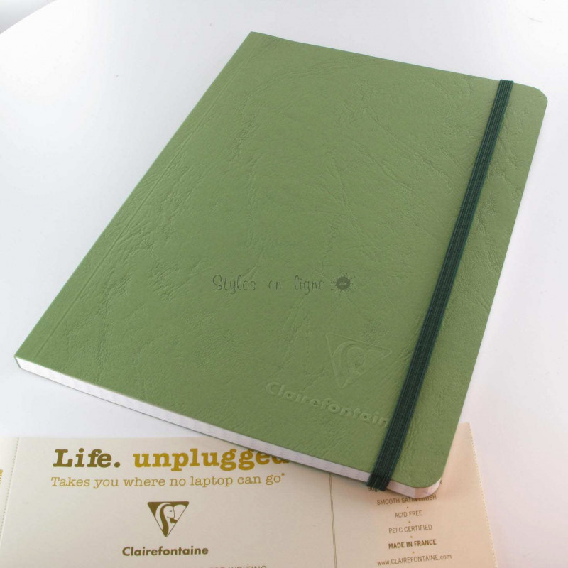Carnet Demi Format Clairefontaine® Age Bag Vert Empire